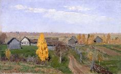 """levitan isaak 1860 1900 autunno d oro periferia della citta 1889 museo russo san pietroburgo (from <a href=""""http://www.oldpainters.org/picture.php?/29068/category/12818""""></a>)"""
