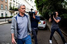 Sunday 22nd May - Jose Mourinho leaves his home in London with intense speculation he will become the next United manager.