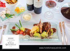 Asado de tira confitada con risotto de espárragos y salsa de hongos secos con oporto.  #Hotel #Viñedo, #Vineyard  #wine #winelover #Ica #Peru #Vino #Relax #Vacations #food #comida #menu