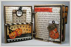 Halloween mini album by Polly's Paper Studio