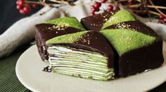 Matcha Gold Crepe Cakes ~ Recipe | Tastemade