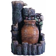 Mini Flowing Urn Fountain with Lights. Made from durable resin-stone, all Kelkay easyfountains are self contained, with no need for a permanent water supply. Fountains Of Wayne, Fountains For Sale, Indoor Water Fountains, Tabletop Fountain, Backyard Makeover, Garden Spaces, Lawn And Garden, Water Features, Minion