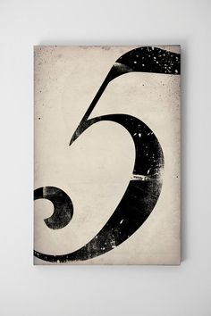 number on canvas