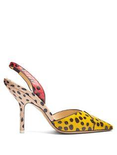 Mara polka-dot snakeskin pumps | Attico | MATCHESFASHION.COM UK