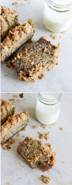 Whole Wheat Banana Bread with Coconut Streusel I howsweeteats.com