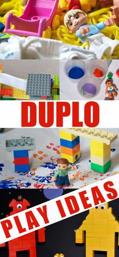 Easy ideas for learning through play with DUPLO - sensory play, math games and STEM Challenges Science For Toddlers, Fine Motor Activities For Kids, Preschool Science Activities, Quiet Time Activities, Science Experiments Kids, Math For Kids, Preschool Activities, Biology For Kids, Chemistry For Kids