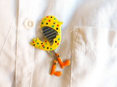 Chic brooch cute chicken pins yellow chick by MyFunnyThings