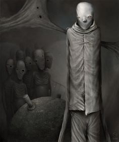 Artist Anton Semenov lives in the city of Bratsk, Siberia. His scary paintings really startle, but all the lovers of gloomy dark style admire Anton's drawing. Anton, Bizarre Art, Creepy Art, Strange Art, Creepy Stuff, Arte Horror, Horror Art, Dark Art Illustrations, Illustration Art