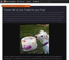 4th of July Frozen Treat Recipes to Keep your Pup Feelin' Cool! www.bionicdogblog.wordpress.com