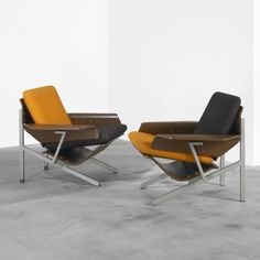 Cornelius Zitman, Lounge Chairs for UMS-Pastoe, 1964.