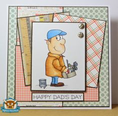 Droplets in a Rusty Bucket, Highland Handmade, Fathers Day, Digistamp Boutique, Male Card