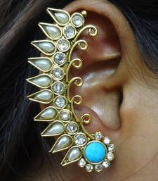 Buy Aqua blue ear cuffs stud online