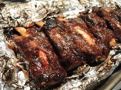 It's the summer (or the winter!) and you don't have a grill or a smoker. What do you do? Sit there and lament your grill-less state? No! You buy some ribs, turn on that oven, and make s…