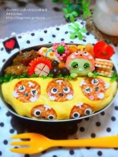 Mook omelet rice bento