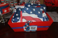 5th Birthday Captain America/ Super Heroes | CatchMyParty.com