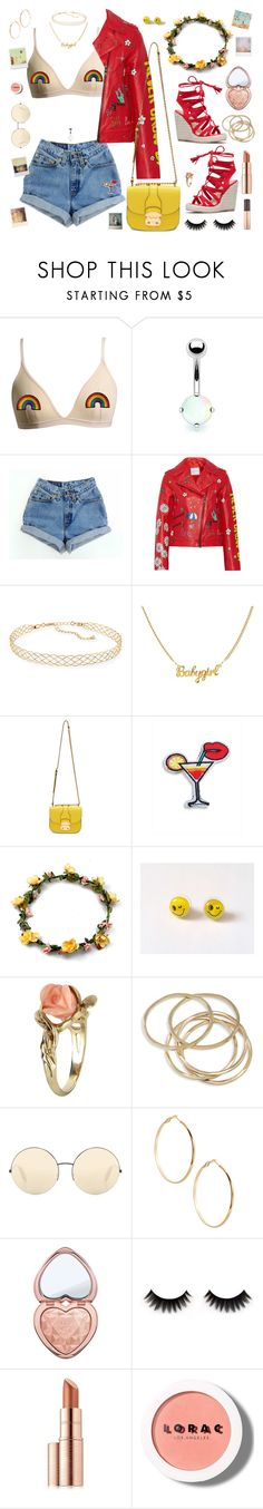 """90's Heartbreaker"" by alexis-marie-burroughs ❤ liked on Polyvore featuring Bling Jewelry, Mira Mikati, Panacea, Miu Miu, R.J. Graziano, Vintage, ABS by Allen Schwartz, Victoria Beckham, GUESS by Marciano and Too Faced Cosmetics"