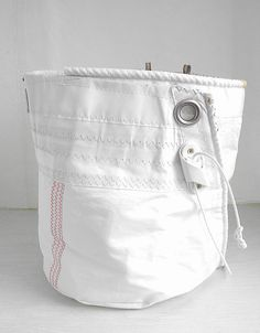 Large Sail Cloth Bucket Bag one-of-a-kind by SailAgainBags on Etsy