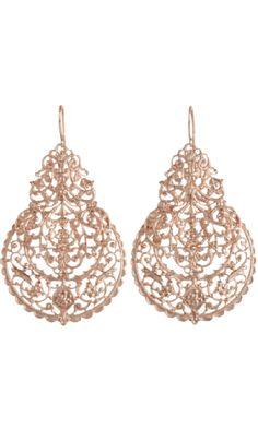 For Fancy Mom: Rose Gold Marrakesh Earrings from #Barneys #poachit