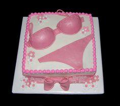 Lingerie shower cake!