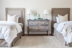 Marie Flanigan Interiors - Lamp Lighting Roundup - Bedside Lamps - Nightstand Lamps - Twin Bed Design