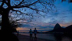 Cariocas aproveitam o bom tempo para correr no Aterro do Flamengo Foto: Guilherme leporace / Agência O Globo