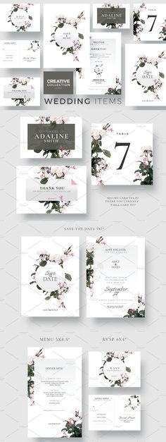 New ! Wedding Collection - Creative Template perfect to promote your Wedding Event !  The Download Package includes: Save the Date, Invitation, Menu Card, RSVP, Escort Card, Table Number and Thank You Card.  Thank you and enjoy ! Menu Cards, Table Numbers, Flyer Template, Save The Date, Thank You Cards, Wedding Events, Rsvp, Wedding Invitations, Templates
