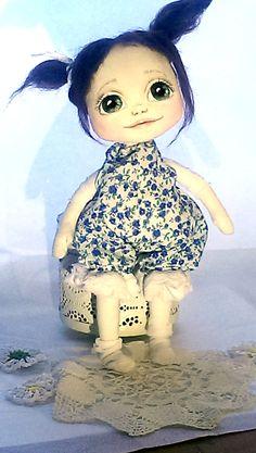 Textile art doll, Art interior doll, interior doll, cute art ooak doll, cute interior doll, cute cloth doll, ooak textile doll Handmade Dolls, Handmade Gifts, Textile Art, Art Dolls, Textiles, Hand Painted, Disney Princess, Unique Jewelry, Toys