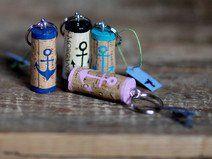 Schlüsselanhänger aus Weinkorken ANKER