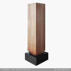 totem3 legno/wood 30x30 h120cm