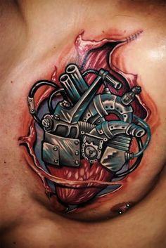 heart by Andrea Lanzi, Orzinvovi, Italy | heart tattoos