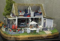 """Interior view of """"Campground Cottage"""" in quarter scale"""