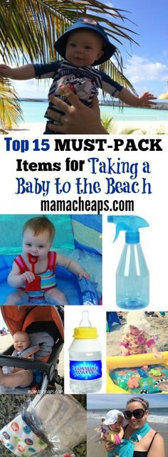 Top 15 MUST-PACK Items for Taking a Baby to the Beach #BeachVacation