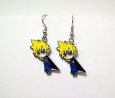 www.etsy.com/shop/eternalelfcreations  Final Fantasy Dissidia earrings Akatsuki by Eternalelfcreations, $8.00
