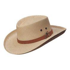 70e0ee6aeacda Men s Scala 350GOS Gambler Straw (Brown) Hat Natural (US Men s S M