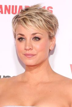 kaley cuoco short hair