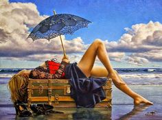 Paul Kelley's sensual art has a romantic appeal, from his figurative painting, fashion artwork, and nude art prints, to his dance artwork and Nova Scotia art. Female Images, Female Art, Figure Painting, Diy Painting, Painting Videos, Paul Kelly, Fashion Artwork, Umbrella Art, Canadian Artists