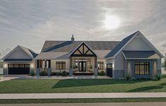 Lake House Plans, Best House Plans, Unique House Plans, Modern Farmhouse Plans, Farmhouse Style Homes, Contemporary Farmhouse Exterior, Texas Farmhouse, Farmhouse Interior, Farmhouse Chic