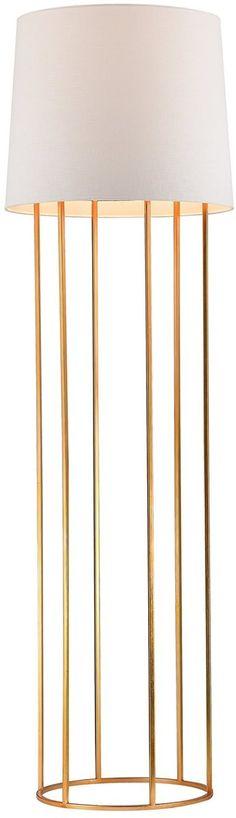Save on Dimond 1-Light 3-Way LED Floor Lamp Gold Leaf D2591-LED D2591LED | LampsUSA