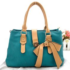 [grhmf2200046]Nice Green Buckle Bow Handbag