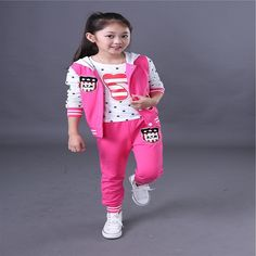 27.55$  Buy now - https://alitems.com/g/1e8d114494b01f4c715516525dc3e8/?i=5&ulp=https%3A%2F%2Fwww.aliexpress.com%2Fitem%2FChildren-s-multi-color-autumn-and-winter-in-the-big-long-sleeved-children-sports-girls-three%2F32740734100.html - Children 's multi - color autumn and winter in the big long - sleeved children sports girls three - piece solid color fashion