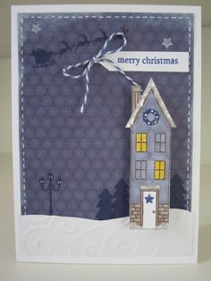 Holiday Home stamp set from Stampin' Up.  Christmas card.