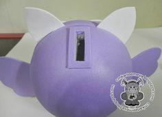 CMK arte em E.V.A: Cofre Coruja - molde com pap