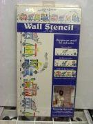 STENSIL DECOR PLAID 26647