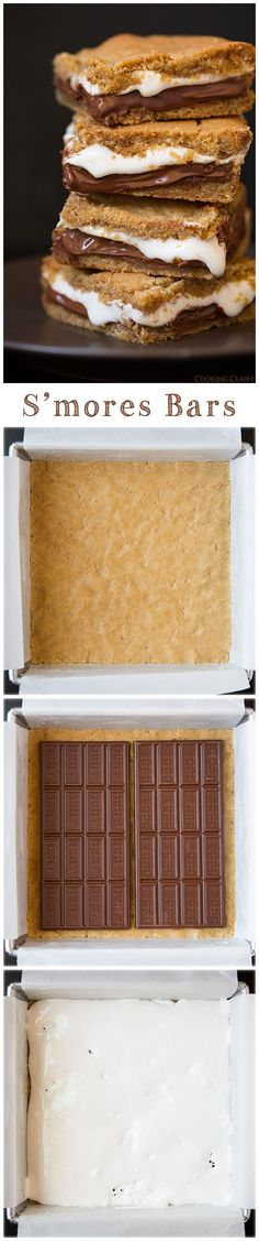 Smores Bars - these are seriously amazing! Taste just like smores but in soft and chewy cookie bar form.