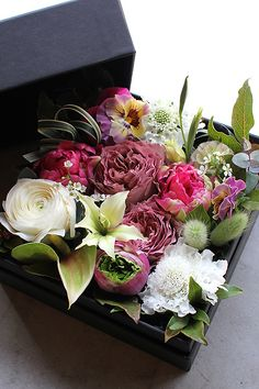 All sizes | Box Flower Arrangement | Flickr - Photo Sharing!