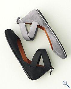 Gentle Souls Bay Unique Ankle-Wrap Ballet Flats - Garnet Hill ($100-200) - Svpply