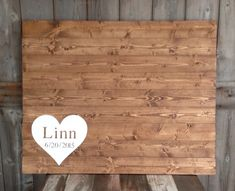 Large, Rustic Wood, Rustic Guest Book, Wood Guest Book, Personalized, Guest book Sign, Guest Book With last name & date, measures 40X30 by SimplymadesignsbyB on Etsy