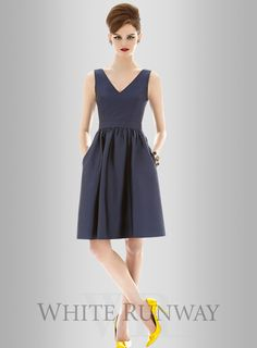 84a7a1503a2 Dessy April Dress Cocktail Length Dress