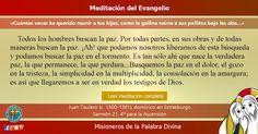 MISIONEROS DE LA PALABRA DIVINA: MEDITACIÓN DEL EVANGELIO - ¡Cuántas veces he queri...