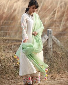 Image may contain: 1 person, standing, child and outdoor Pakistani Dress Design, Pakistani Dresses, Indian Dresses, Indian Outfits, Kurti Designs Party Wear, Kurta Designs, Dress Designs, Mehndi Designs, Blouse Designs